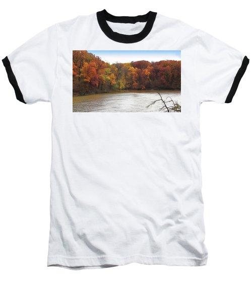 Sauk Lake Autumn Baseball T-Shirt