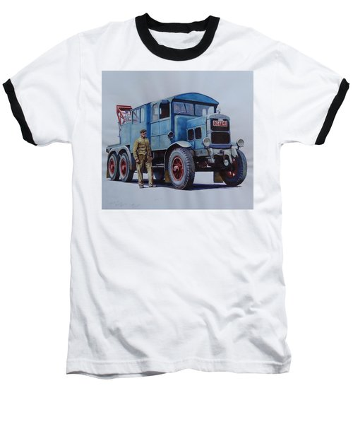 Scammell Wrecker. Baseball T-Shirt by Mike Jeffries