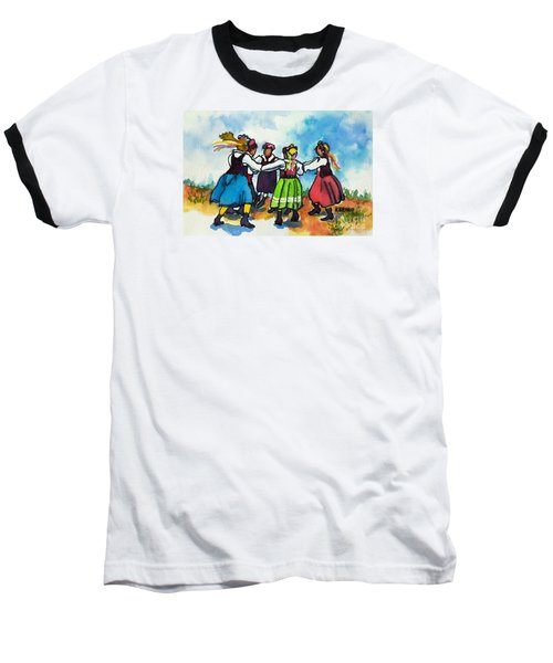 Scandinavian Dancers Baseball T-Shirt by Kathy Braud
