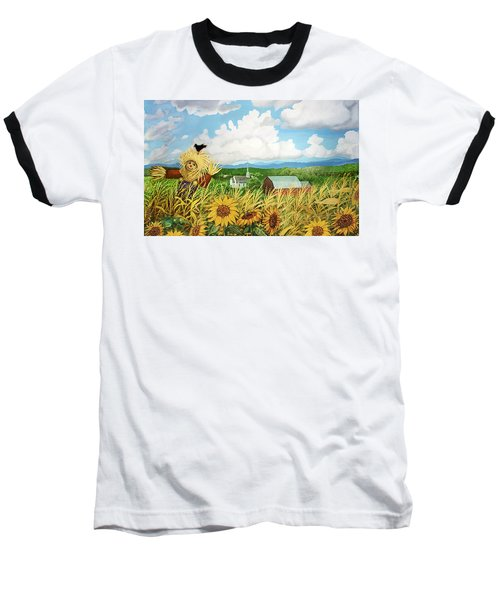 Scarecrow Farm Baseball T-Shirt by Bonnie Siracusa