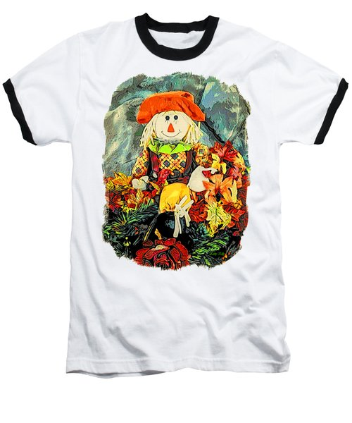 Scarecrow T-shirt Baseball T-Shirt by Kathy Kelly
