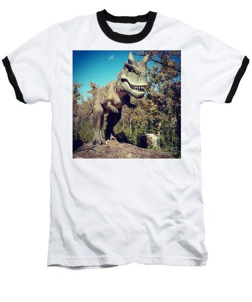 Scary Carnotaurus Baseball T-Shirt