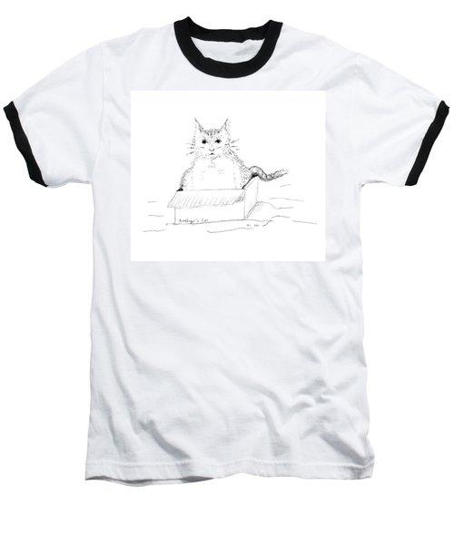 Schrodinger Cat Baseball T-Shirt by Regina Valluzzi