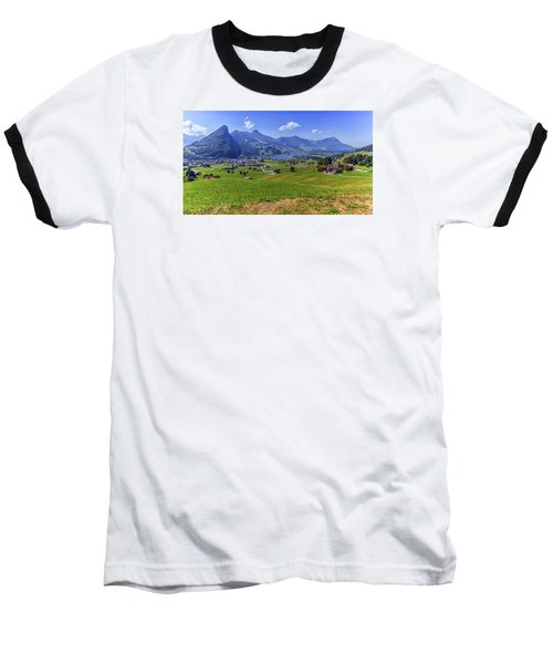 Schwyz And Zurich Canton View, Switzerland Baseball T-Shirt by Elenarts - Elena Duvernay photo