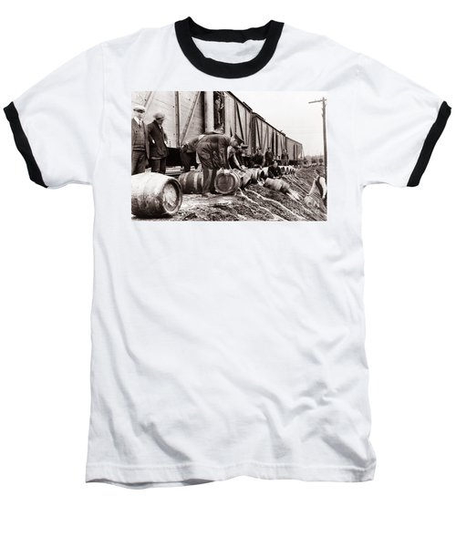 Scranton Police Dumping Beer During Prohibition  Scranton Pa 1920 To 1933 Baseball T-Shirt