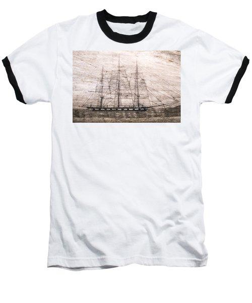 Scrimshaw Whale Panbone Baseball T-Shirt