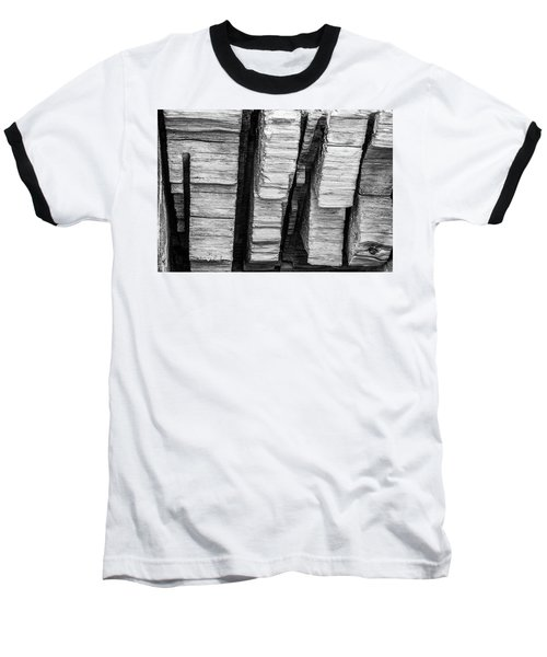 Sculpted Log Baseball T-Shirt