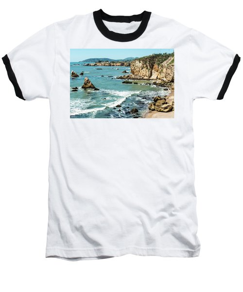 Sea And Cliffs Baseball T-Shirt