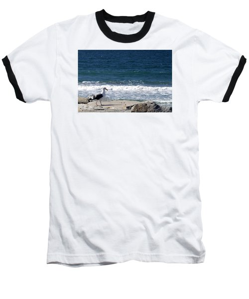 Seagull  Baseball T-Shirt by Christopher Woods