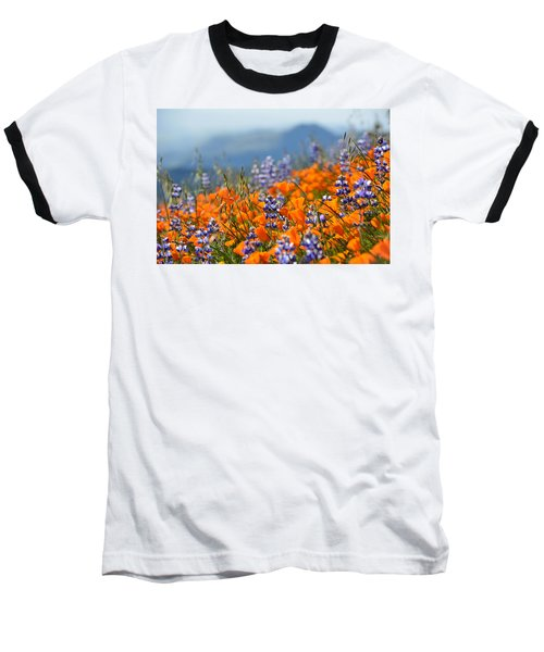 Sea Of California Wildflowers Baseball T-Shirt by Kyle Hanson
