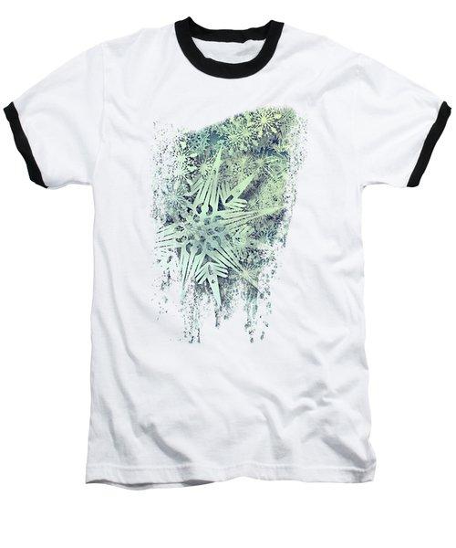 Sea Of Flakes Baseball T-Shirt by AugenWerk Susann Serfezi