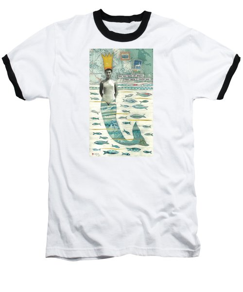 Baseball T-Shirt featuring the painting Sea Queen by Casey Rasmussen White