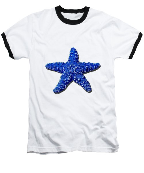 Sea Star Navy Blue .png Baseball T-Shirt by Al Powell Photography USA