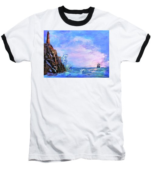 Baseball T-Shirt featuring the painting Sea Stories 2  by Andrzej Szczerski