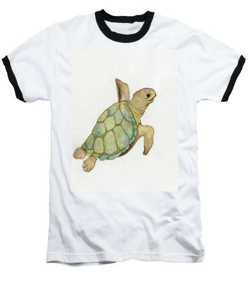 Sea Turtle Baseball T-Shirt by Annemeet Hasidi- van der Leij