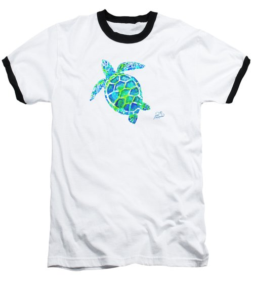 Sea Turtle By Jan Marvin Baseball T-Shirt