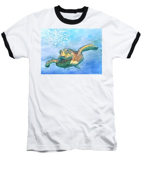 Sea Turtle Series #2 Baseball T-Shirt