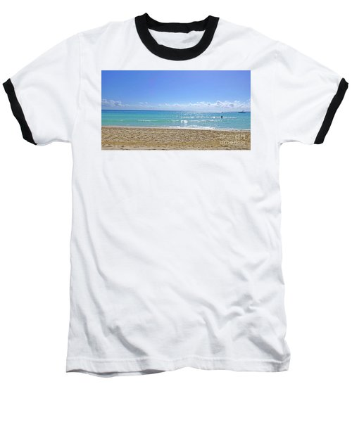 Baseball T-Shirt featuring the photograph Sea View M2 by Francesca Mackenney