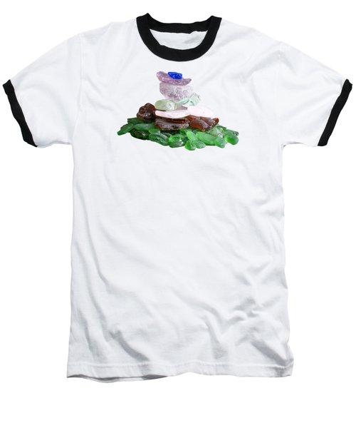 Seaglass Pyramid Baseball T-Shirt