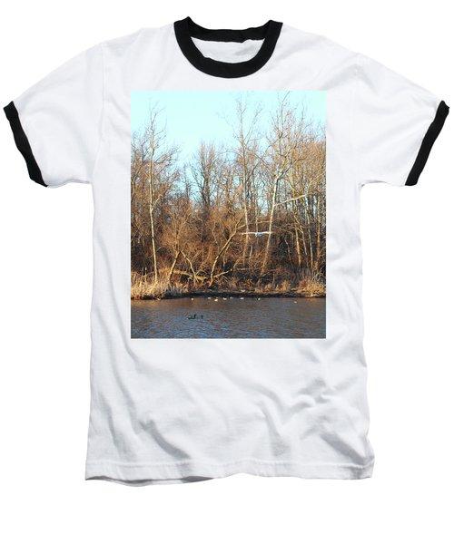 Seagull Flying Baseball T-Shirt
