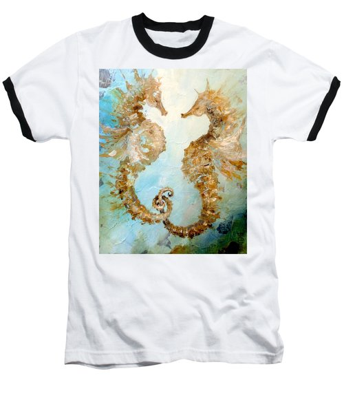 Seahorses In Love 2016 Baseball T-Shirt by Dina Dargo