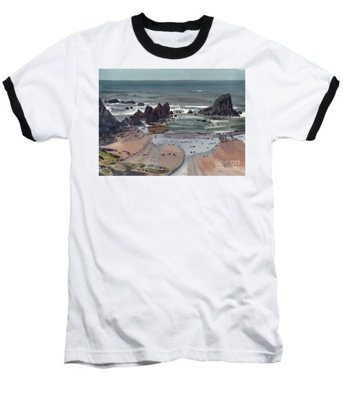 Seal Rock Oregon Baseball T-Shirt by Donald Maier