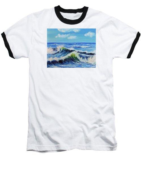 Seascape No.3 Baseball T-Shirt by Teresa Wegrzyn