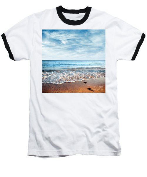 Seashore Baseball T-Shirt by Carlos Caetano