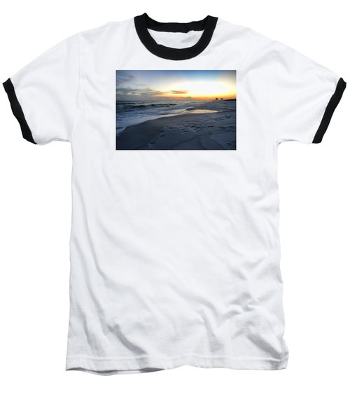 Seaside Sunset Baseball T-Shirt by Renee Hardison