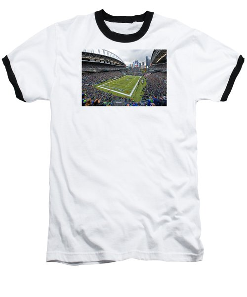 Seattle Seahawks Centurylink Field Baseball T-Shirt