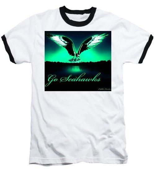 Seattle Seahawks Baseball T-Shirt by Eddie Eastwood