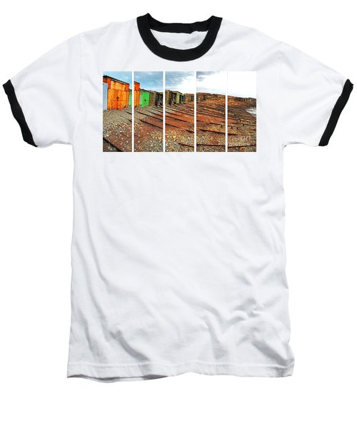 Baseball T-Shirt featuring the photograph Second Valley Boat Sheds by Stephen Mitchell