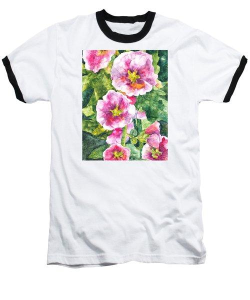 Baseball T-Shirt featuring the painting Secret Garden by Casey Rasmussen White