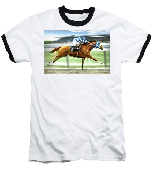 Secretariat On The Back Stretch At The Belmont Stakes Baseball T-Shirt