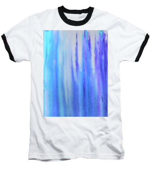 See Blue Sea Baseball T-Shirt by Cyrionna The Cyerial Artist