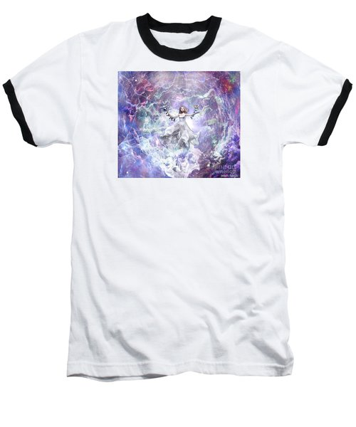 Baseball T-Shirt featuring the digital art Seek And You Shall Find by Dolores Develde