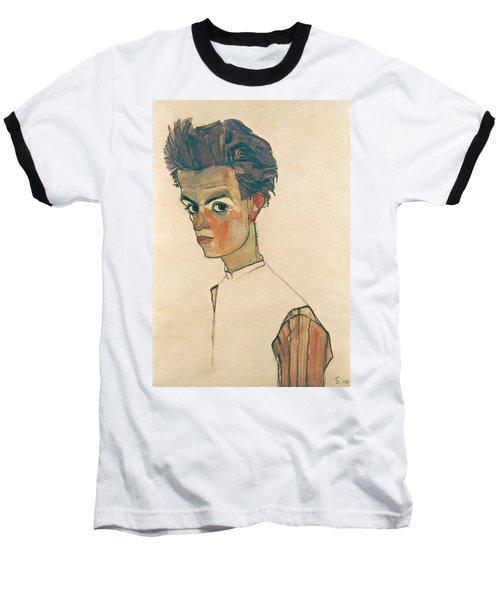 Self-portrait With Striped Shirt Baseball T-Shirt