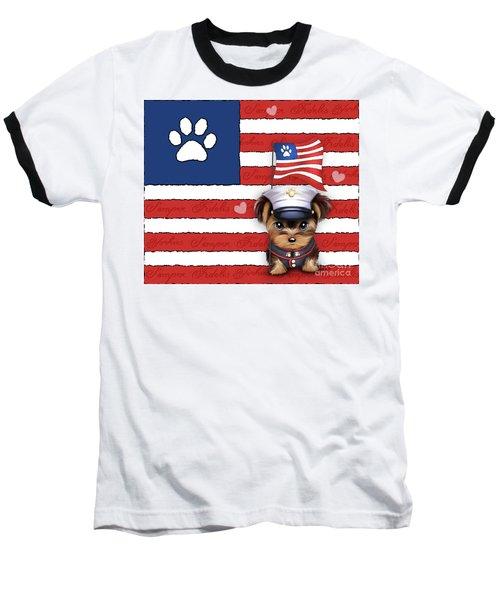 Semper Fidelis Yorkie Marine Baseball T-Shirt