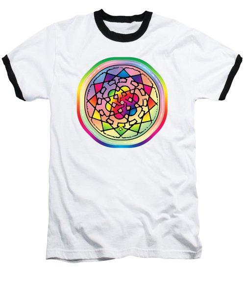 Sephardic Medieval Mandala Baseball T-Shirt