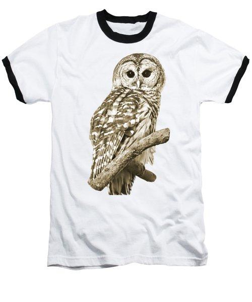 Sepia Owl Baseball T-Shirt