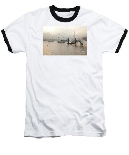 September Fog I Baseball T-Shirt by Butch Lombardi