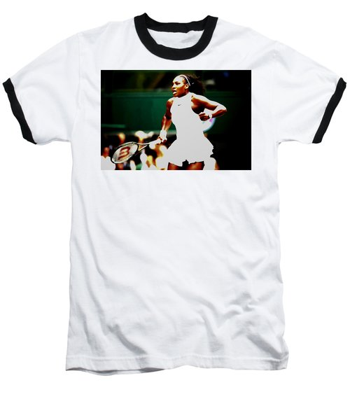 Serena Williams Making History Baseball T-Shirt by Brian Reaves