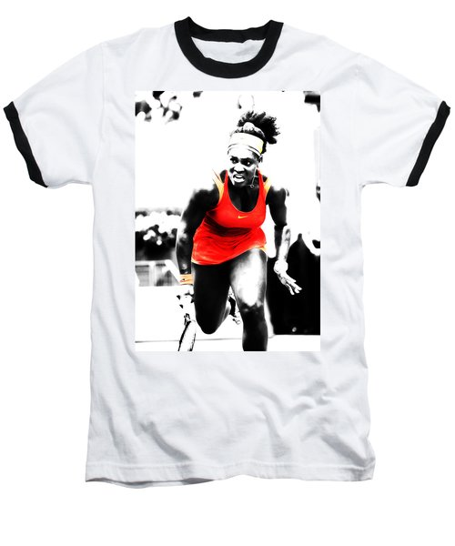 Serena Williams Go Get It Baseball T-Shirt