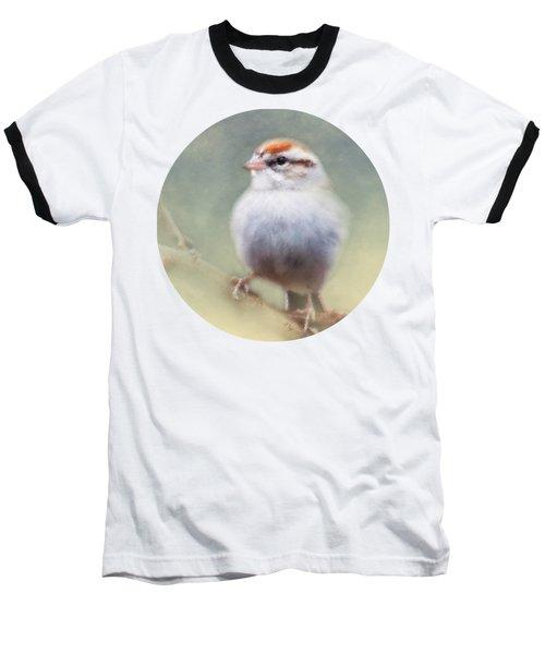 Serendipitous Sparrow  Baseball T-Shirt by Anita Faye