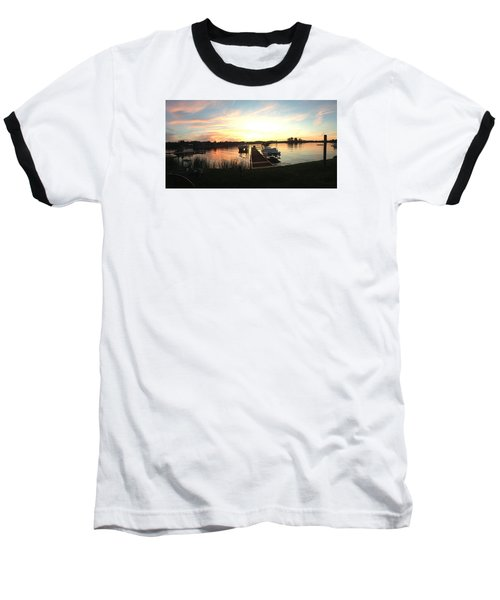 Baseball T-Shirt featuring the photograph Serene Sunset by Rebecca Wood