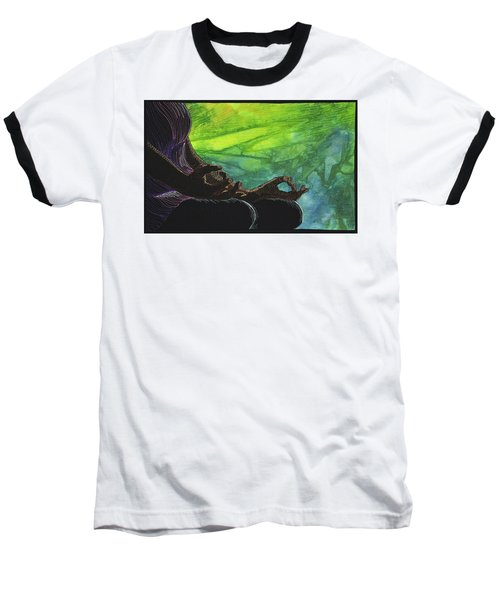 Baseball T-Shirt featuring the tapestry - textile Serenity by Jo Baner