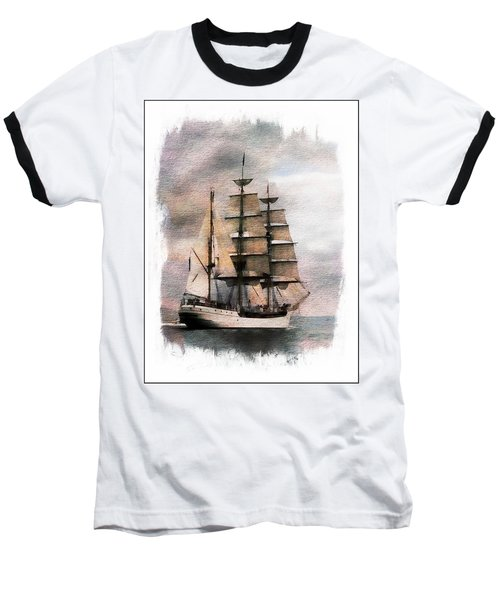 Baseball T-Shirt featuring the painting Set Sail by Aaron Berg