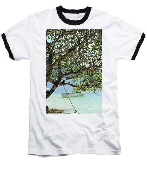 Seychelles Island Baseball T-Shirt by Eva Kaufman