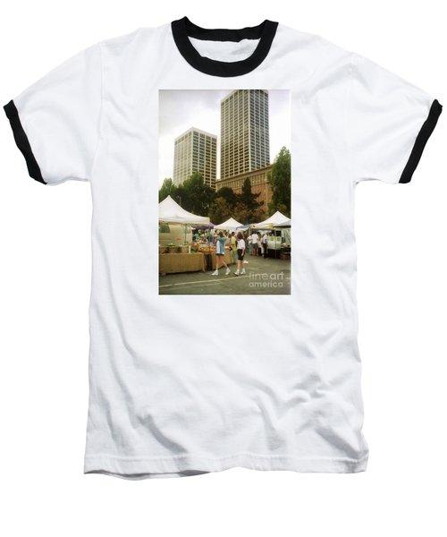 Sf Embarcadero Center Farmer Mkt Baseball T-Shirt