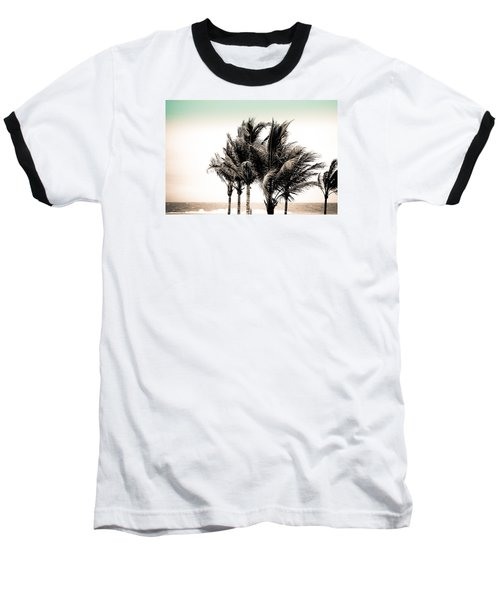 Shades Of Palms - Aqua Brown Baseball T-Shirt